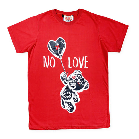 No Love SS Tee (Red) / D2