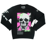 Riot Alone Pink/Green Crew (Black) /D3