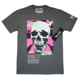 Riot Alone Pink/Green Tee (Dark Grey) /D14