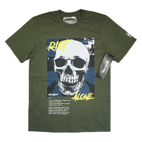 products/Riot_ALone_Yllw_Black_Tee_Olive_F.jpg