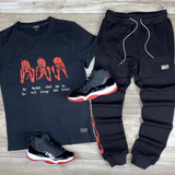 Cooper Tee Suit Set (Black)/D18