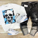 Riot Alone Blue/Black Crew (White) /D5