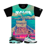 Ship Wreck Tee (Island Green/Multi)