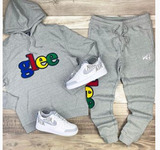 Glee Chenille Jogger Set (Grey)/C8