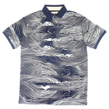 Sonar Wave Print Polo (Navy)