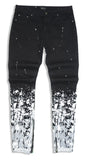 Splatter Zipper Denim (Black/Wte) /C8
