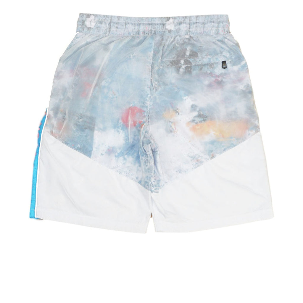 Paint Splatter Shorts (White) / D7