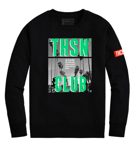 THSN Green Palm Crewneck (Black)