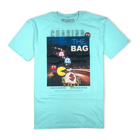 Chasing The Bag Tee (Aqua)
