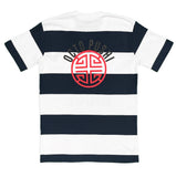 Truth or Judge Stripe Tee (White/Navy) /D5