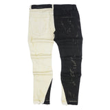 Ying Yang Distressed Denim (Black/Khaki) /C6