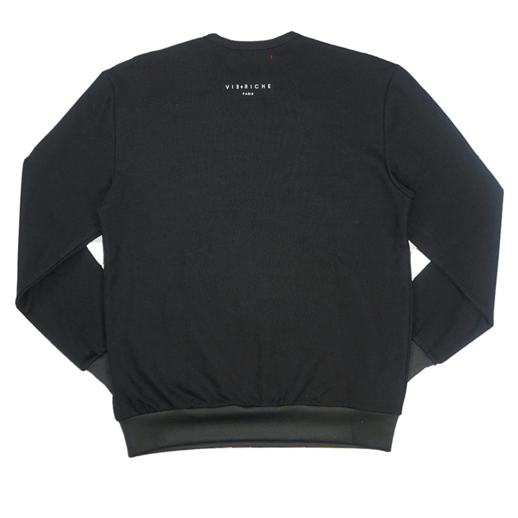 Chest Bubble Sweater (Black)