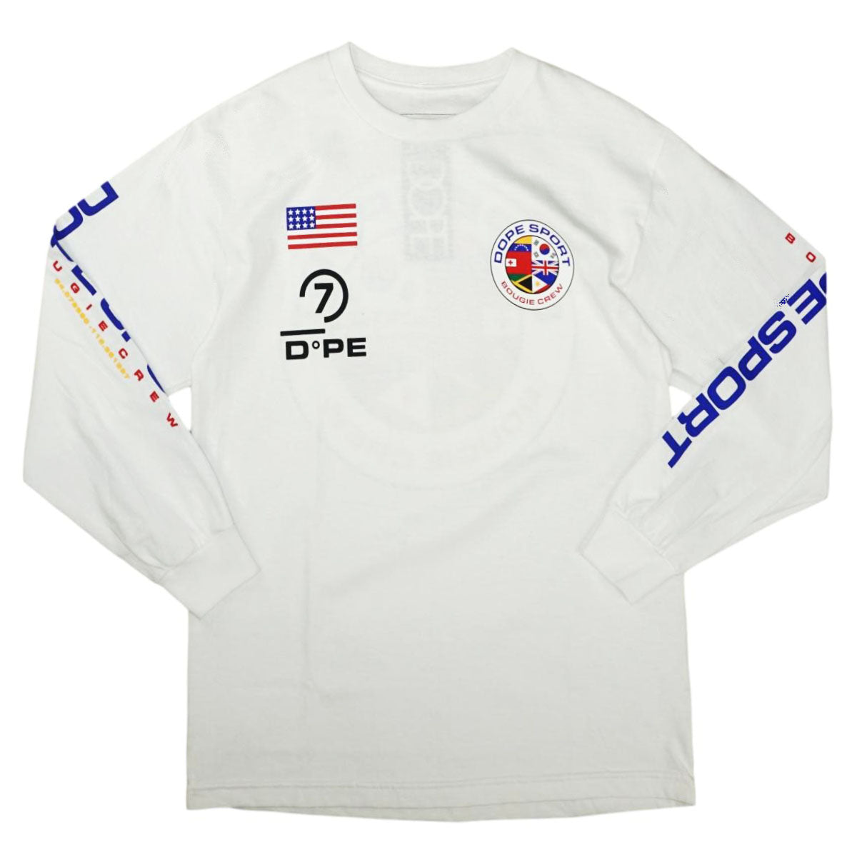 World Wide L/S Tee (White) /D12
