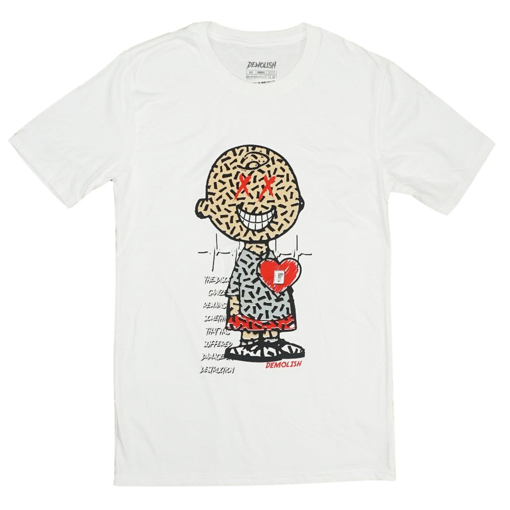 Charlie Puzzled Tee (White/Grey) /D13
