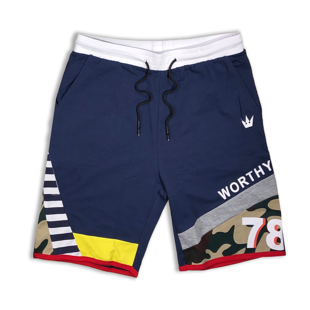 Worthy Shorts (Navy/Multi)