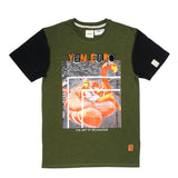 The Art Of Relaxation Chenille Tee (Olive) / D2
