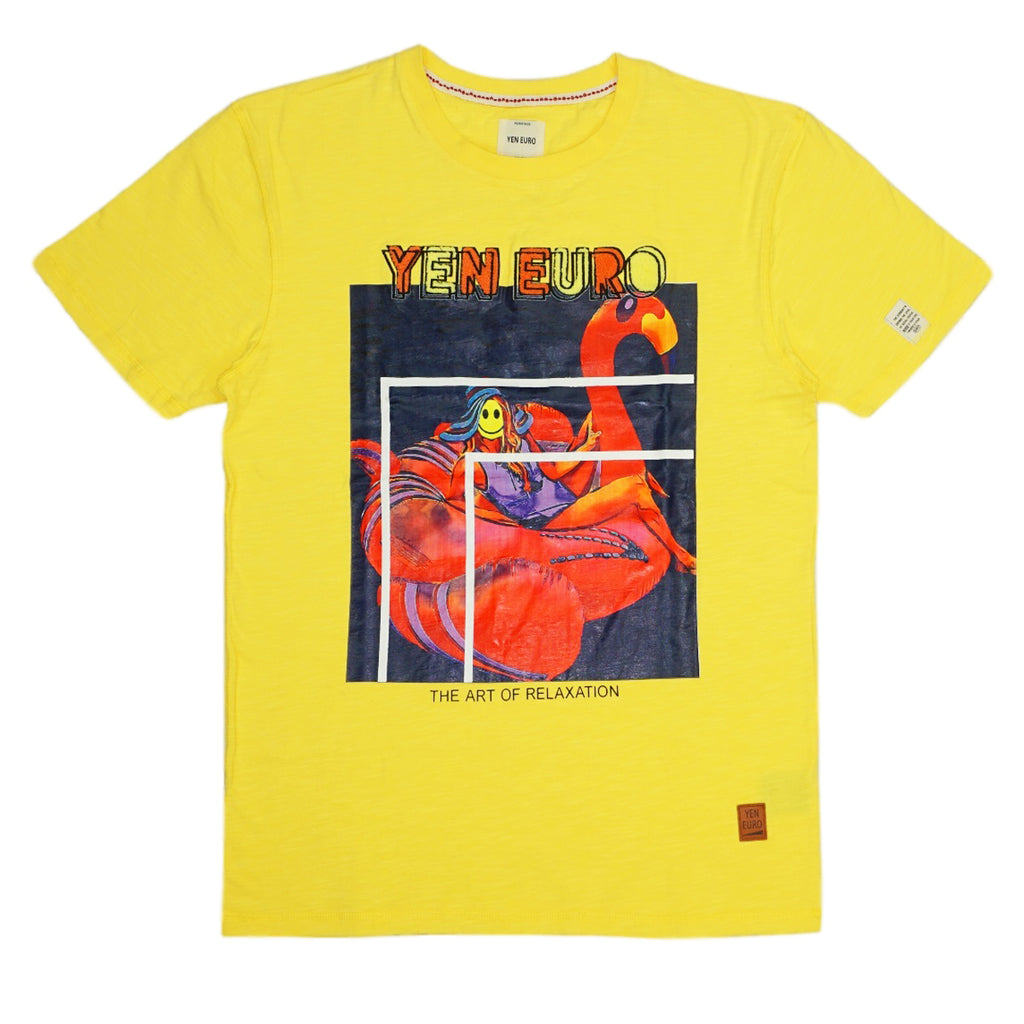 The Art Of Relaxation Chenille Tee (Lemon) / D2