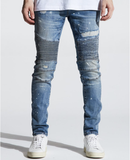 Skywalker Biker Denim (Indigo Paint Splatter) /C3