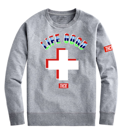 Life Good Crewneck (H. Grey)