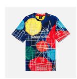 Kandinsky Abstraction All Over Tee (Blue/Multi) /D5