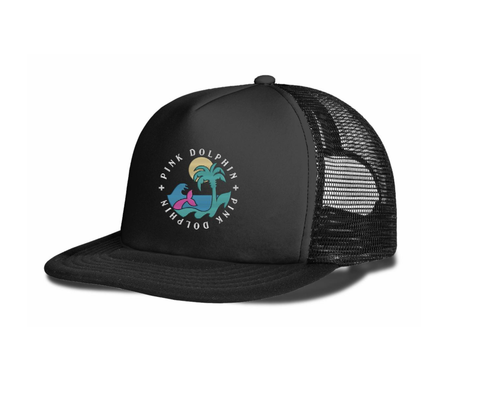 Paradise Trucker Hat (Black)