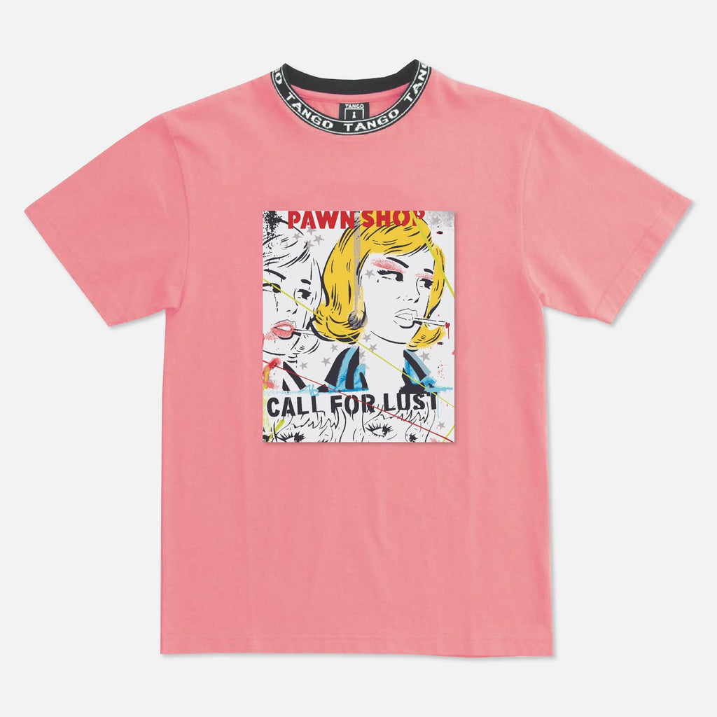 Pawn Shop Patch Tee (Pink) / D4