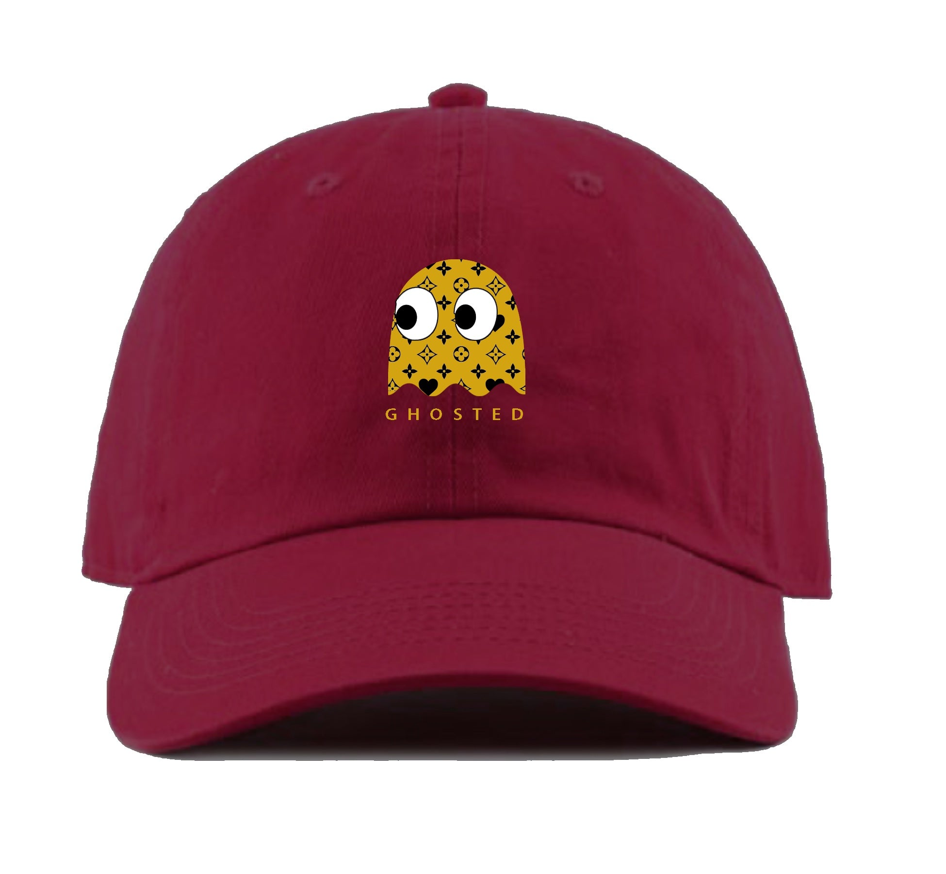 Ghosted Pacman Dad Hat (Maroon)