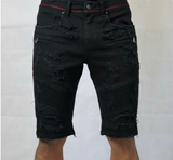 Distressed Biker Shorts (Buffalo Black) /C?