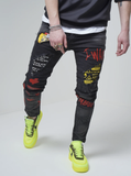 Alien Distressed Comic Denim (Black Wash) /C3