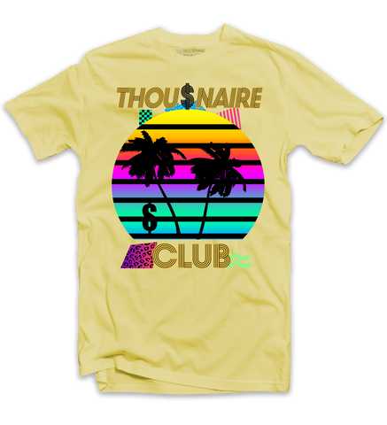 Thousnaire Money Sunset Tee (Lemon) /D2