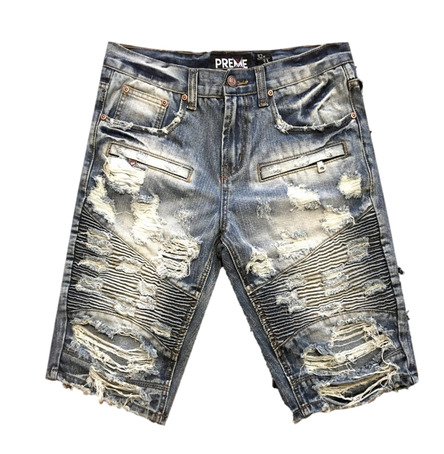 Distressed Amherst Shorts (Indigo) /C6