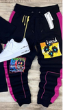 Pop Art Joggers (Black) / C2
