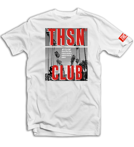 THSN Red Palm Tee (White) /D15