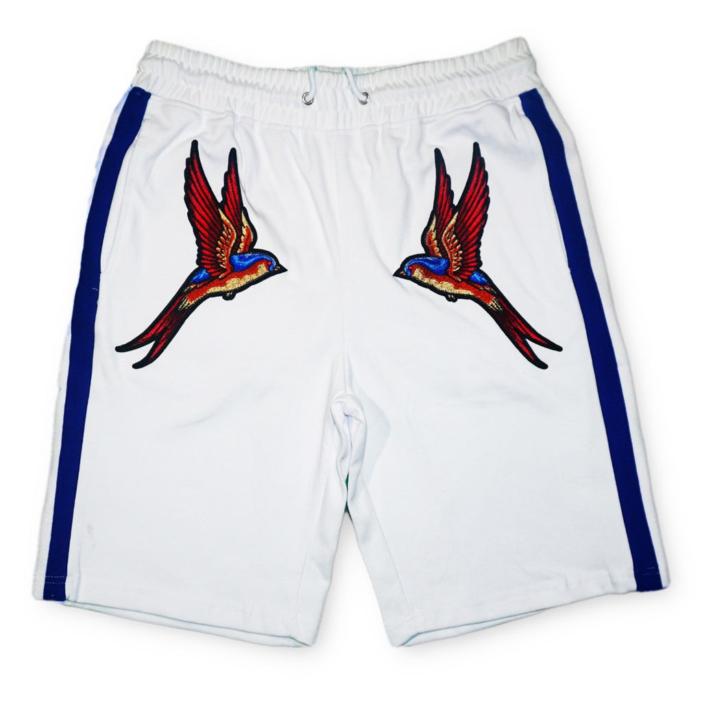 Twin Bird Shorts (White)