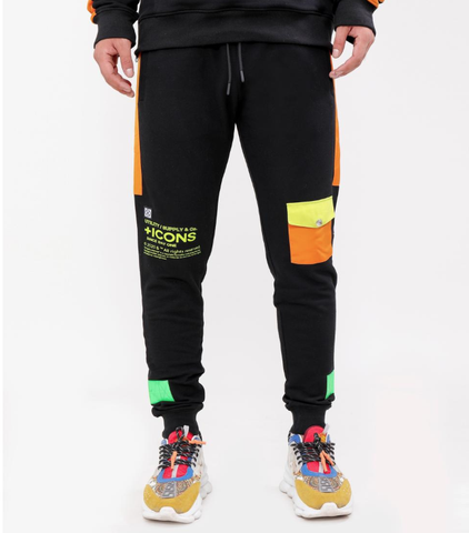 Stacked Pocket Joggers (Black) /D12