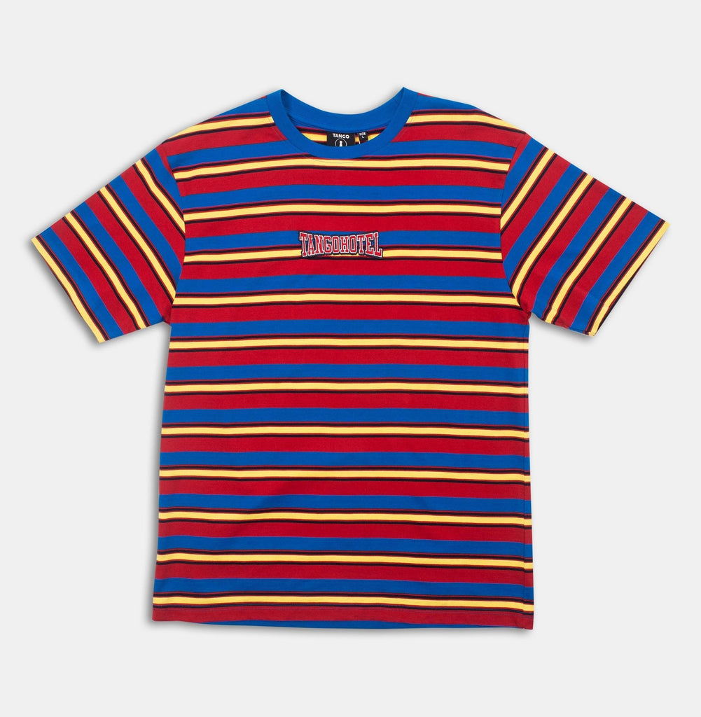 Retro Striped Tee (Yllw/Red/Blue) / D4