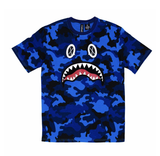 Camo Shark Tee (Royal) /D15