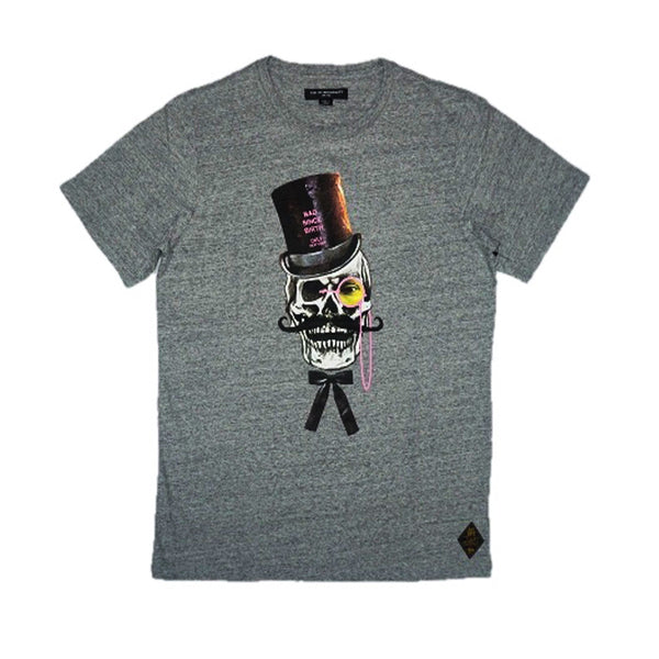 Bad Since Birth Skull Crew Tee (Heather Grey)
