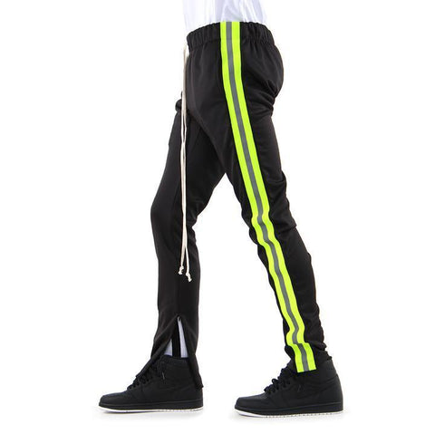 Reflective Track Pants (Blk/N.Green) / C5