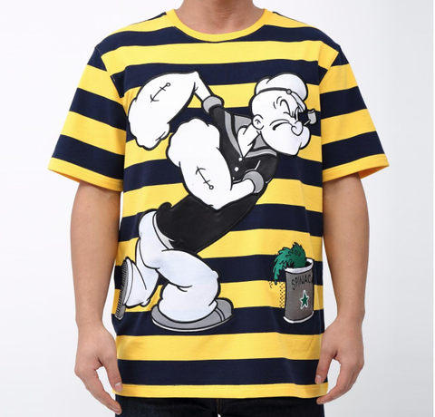 Striped Popeye Tee (Yllw/Blk) /D8