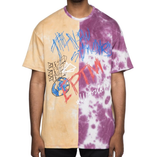 Split Tie-Dye Tee (Pink/Yellow) / D15