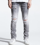Distressed Pacific Denim (Grey Ombre) /C2