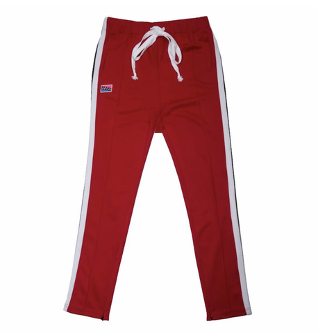 Contrast Color Track Pants (Red/Wte) / C4