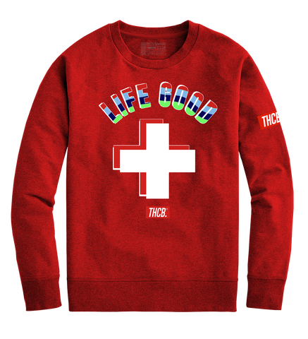 Life Good Crewneck (Red)