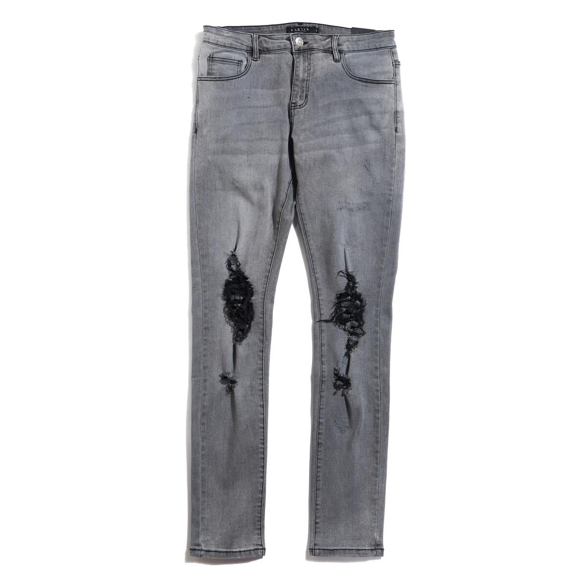 Warren  Distressed Denim ( Dark Grey / C8 )