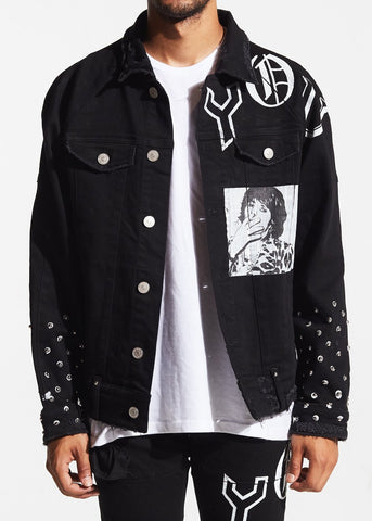 Spungen Denim Jacket (Black)