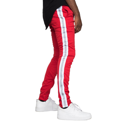 Reflective Track Pants (Red/White)