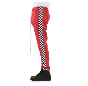 EPTM- Racing Track Pants (Red Checker) /C6