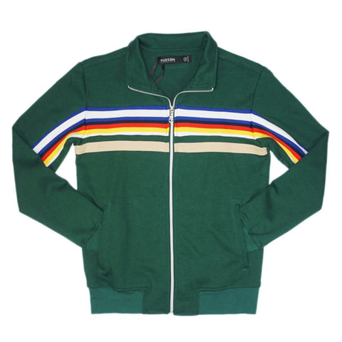 Jeffrey Stripe Track Jacket (Olive)MD1
