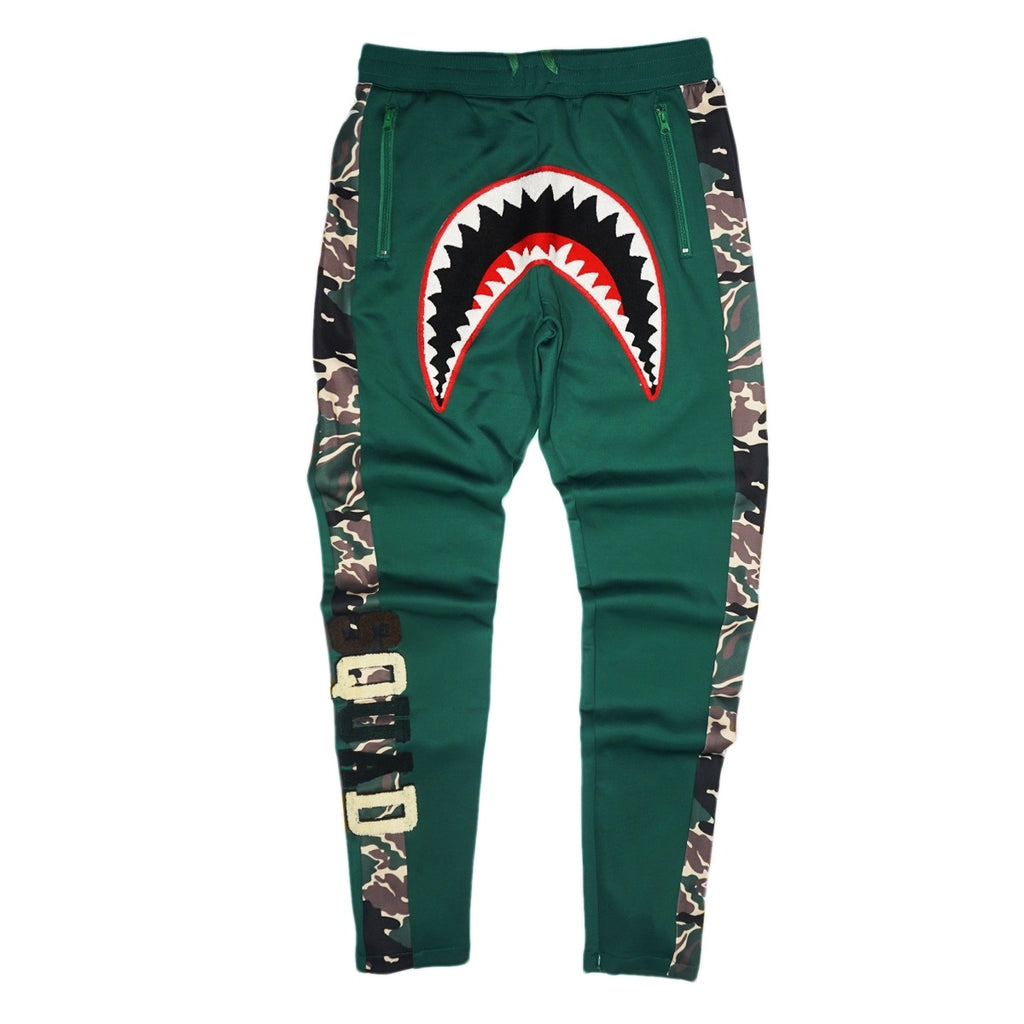 Tiger SharkMouth Track Pant (Olive) / D2